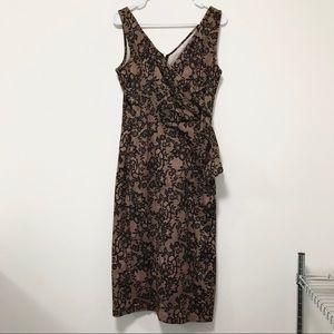 Stop Staring Vintage 1950's Mod Wiggle Midi Dress